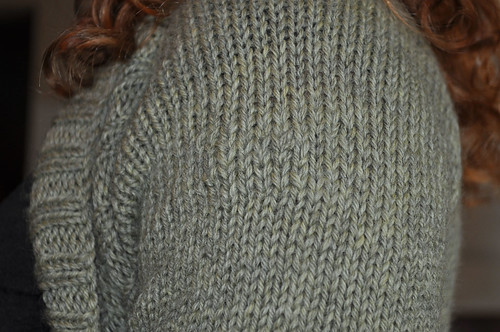 Two-Tone Ribbed Shrug Post Repair