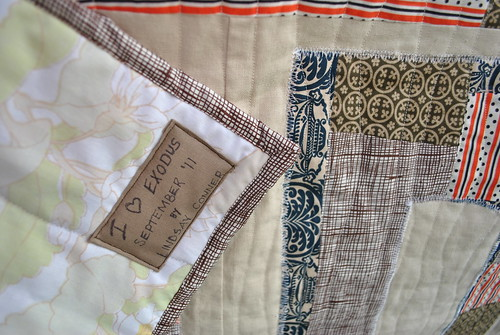 Exodus Quilt Label