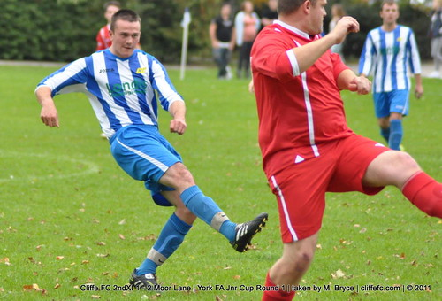 Cliffe FC 2ndXI 1 - 2 Moor Lane (York FA Jnr Cup R1) 24Sept11