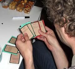 Eine Kartenhand bei Pompfkin