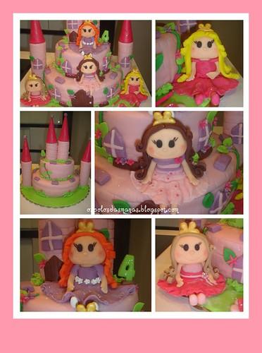 Detalhes Bolo Castelo Princesas 9 by Osbolosdasmanas