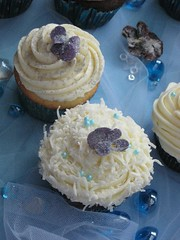 Lavender Coconut Cupcakes (Purple Pastry Chef) Tags: wedding flower sweet lavender cupcake cocnut buttercream