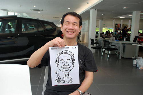 Caricature live sketching for Performance Premium Selection first year anniversary - day 3 - 9