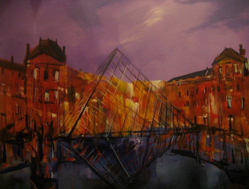 The Pyramid, Paris - Painting - Impressionistic