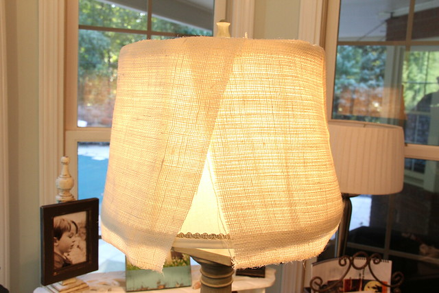 unfinished burlap lampshade
