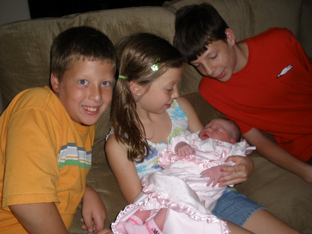 Lily's big brothers and big sister