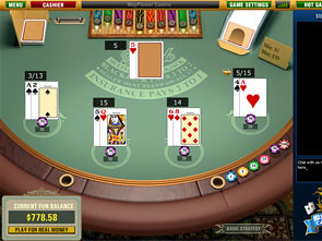 Multi-Hand Blackjack game