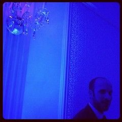 Bluelight... (W W J B D) Tags: lighting blue wedding light party wallpaper lamp bulb dark square beard cool neon mood alone ominous tie tint led suit reception chandelier tuxedo solo squareformat tux bluelight cerami iphone iphonecameraapp iphoneography instagramapp uploaded:by=instagram joncerami