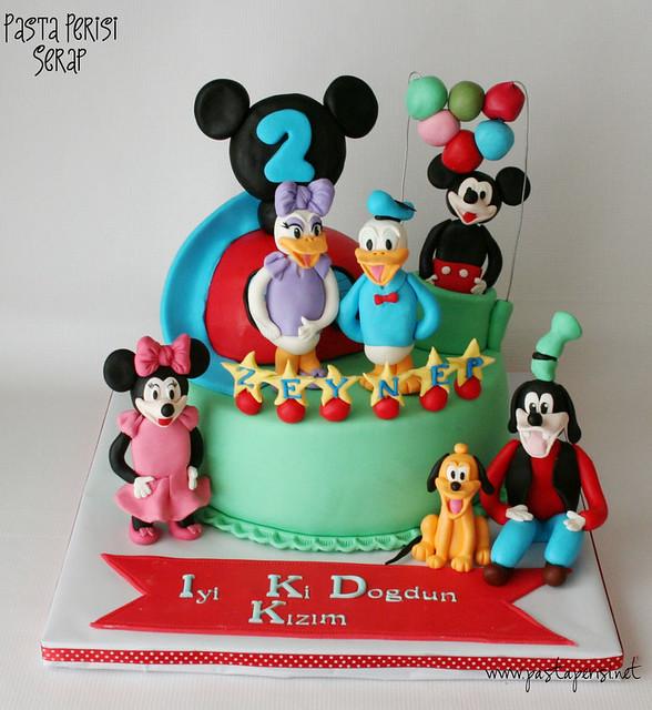 Mickey mouse clup house pastası- zeynep