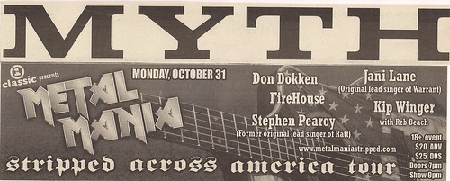 10-31-05 Metal Mania Stripped Across America Tour, Maplewood, MN