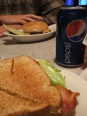 BLT, Pepsi, burger