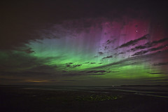Lindisfarne causeway Aurora Borealis (Reed Ingram Weir) Tags: aurora lindisfarnecauseway earthandspace bestnewcomer apoty competition:astrophoto=2013