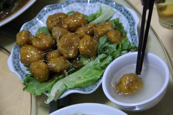 Candied Deep Fried Taro Bites