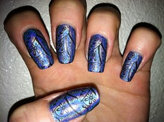 China glaze 2nite konad m60 (scratchureyesout) Tags: china blue polish nails glaze manicure omg holographic holo m60 2nite konad scratchureyesout