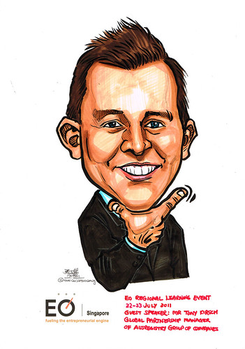 caricature for EO Singapore - Mr Tony Kirsch