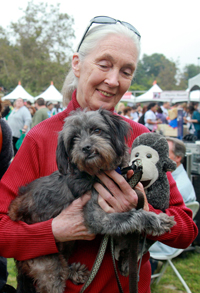Dr. Jane Goodall at Strut Your Mutt in Los Angeles