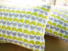 pillow cases (Yuko Uemura) Tags: screenprint patapri gauzecotton