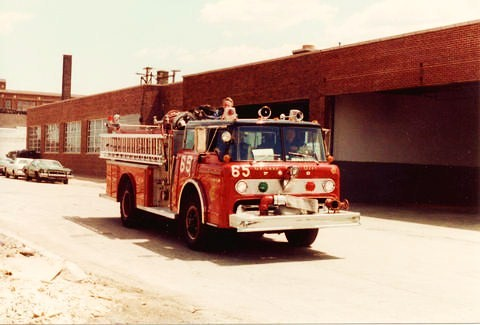 Chicago Fire Department Ford C Cab pumper truck.  Chicago Illinois USA. June 1984. by Eddie from Chicago