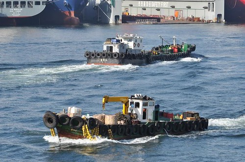 Harbor Choreography (Provision and Lube Oil Boats), Busan, South Korea