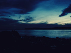 dreaming in blue ({she tells stories}) Tags: ocean sunset night 365 pnw day271 2011 project365 apictureaday