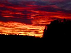 Finnish autumn sunset