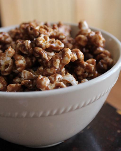 Peanut Butter Nutella Popcorn