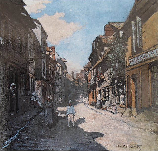Honfleur - La rue de la Bavole, painted by Monet