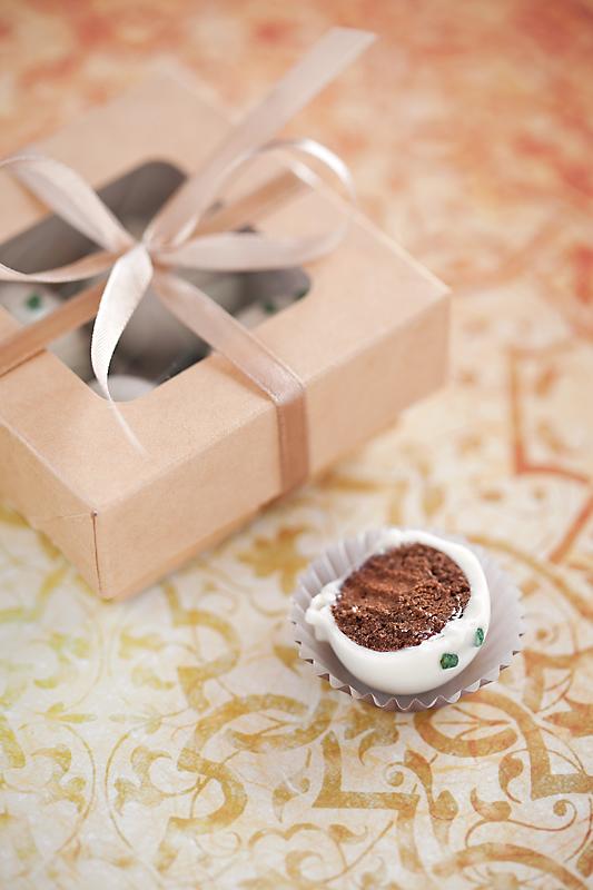 White chocolate, dark chocolate and mint sweets