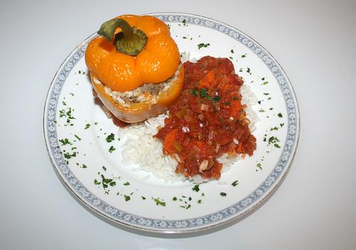 35 - Gefüllte Paprika / Stuffed Paprika - Fertiges-Gericht