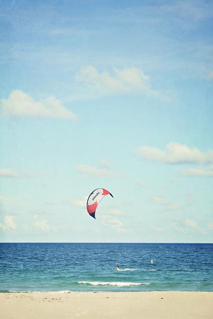 Fort Lauderdale beach kitesurfer