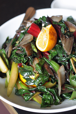 Chinese vegetables with Meyer lemon