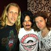 Gilby Clarke (ex-Guns N' Roses) in the Badmouth t-shirt, with Chris and Vinnie from Badmouth