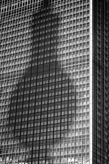 The Tower (Crazy Ivory) Tags: city windows shadow urban blackandwhite bw white black reflection berlin texture alex window public monochrome canon eos bokeh alexanderplatz canon50mmf18 dslr vignette schatten tvtower parkinn fascade fernsehturmberlin niftyfifty tvtowerberlin 40d parkinnberlin canoneos40d gettygermanyq4