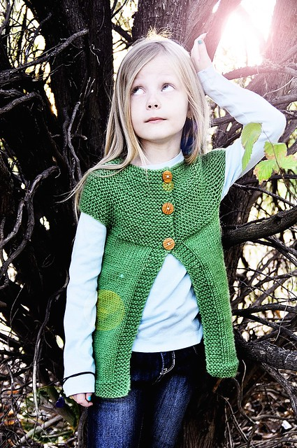 modeling her vest