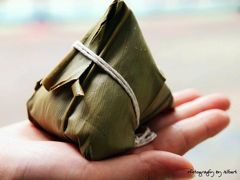內灣.鵝姐野薑花粽:野薑花粽
