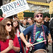 Ron Paul supporter on Occupy Wall Street march