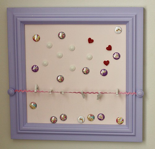 Lexie's magnetic board