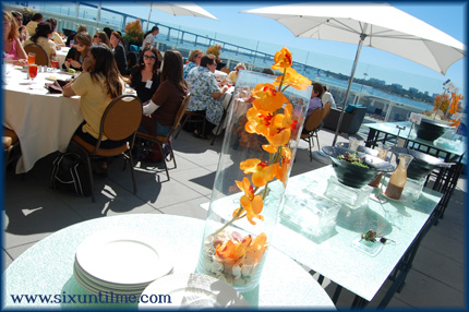 The outdoor lunch on the patio, overlooking the water, was pretty nice.  :)