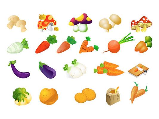 Vegetales en Vector