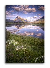 Mt. Rundle (Taylor.McBride) Tags: mountain lake dock britishcolumbia banff hdr highdynamicrange mountrundle tamron1224mm nikond300 taylormcbride