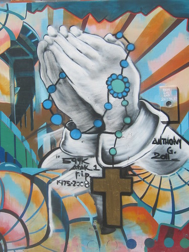 Praying Hands Mural