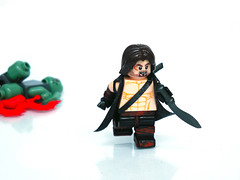 Lost Swordsman ([N]atsty) Tags: blood rust lego fig muscle zombie dirt tape prototype e figure sword ba minifig tac proto apoc kukuri brckarms