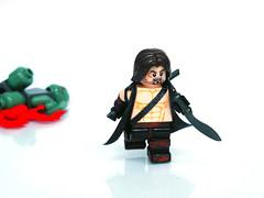 Lost Swordsman ([N]atsty) Tags: blood rust lego fig muscle zombie dirt tape prototype e figure sword ba minifig tac proto apoc kukuri brckarms