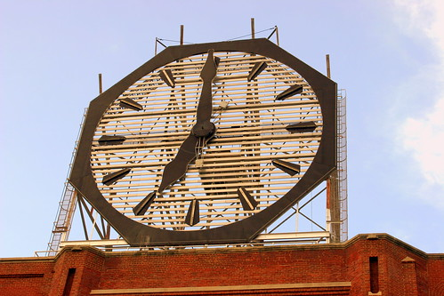 Colgate Clock in the day- Clarksville, IN