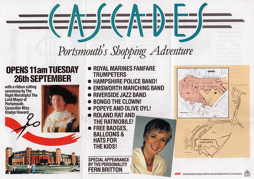 Cascades 1989 Leaflet - Portsmouth's Shopping Adventure