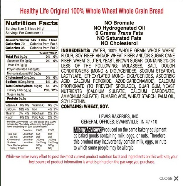 Dreamfields Pasta Nutrition Facts
