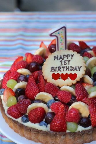20111002 Fruit Tart for my daughter's 1st birthday♪