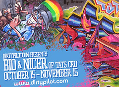 Bio & Nicer @ Dirtypilot.com (tatscruinc) Tags: streetart graffiti bio nicer bg183 totem2 tatcru themuralkings dirtypilot