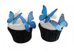Online Cupcakes - Edible Butterflies (incrEDIBLE toppers) Tags: birthday blue wedding decorations red party food orange green yellow cake cupcakes wings purple princess events retirement stockingstuffers forher somethingblue butterflyparty butterflycake winterwedding butterflycupcakes butterflycupcake butterflydecorations ediblebutterflies ediblebutterfly