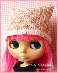 Blythe Hat - Colorful Checked Pattern Crochet Hat